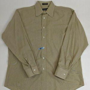 Christian Dior MONSIEUR Long Sleeve Tan Plaid